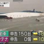 【人災】韓国旅客船沈没事故の原因は杜撰な積荷管理にあり?沈没後の生存者は未だ0人
